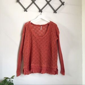 Free People Crocheted Pullover